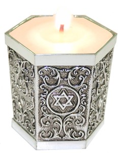 A Traditional Jewish Shiva Candle