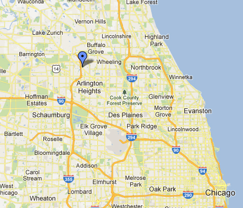 Chicago Area Map - Shalom Memorial Park and Shalom Funeral ...