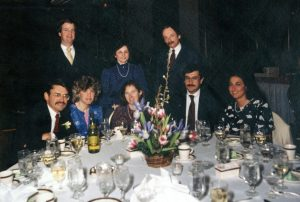 Photo By Kate Waits : Wedding of Kate Waits & Marty Belsky - March 9, 1985. Table of guests, including Bob Shapiro.