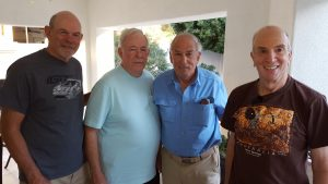 Photo By carole Frankel : Barry,  Al, Jerry and Don Winter, 2016