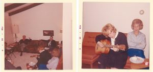 Photo By Lisa Fischer : Lynne playing her guitar at our house @ 1970s